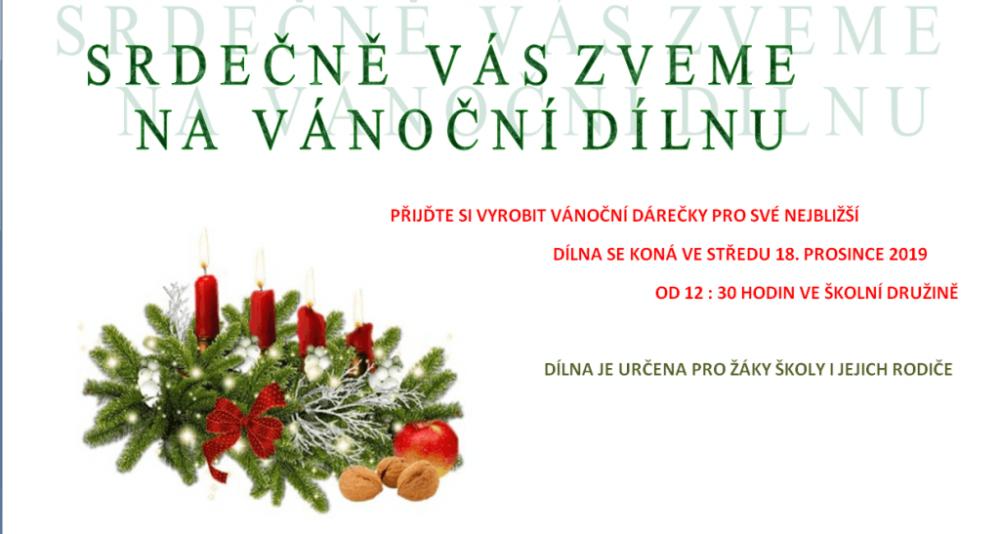 Pozvání na vánoční dílnu